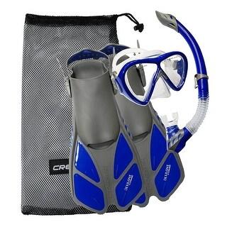 Cressi Bonete Bag Light Weight Travel Fun Snorkeling Set, Gray/Blue, Large/X-Large