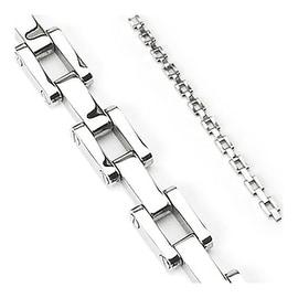 Stainless Steel RR Link Chain Bracelet (10 mm) - 9.25 in