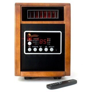 Dr. Infrared Heater DR-998 Elite Series Portable Infrared Space Heater - cherry