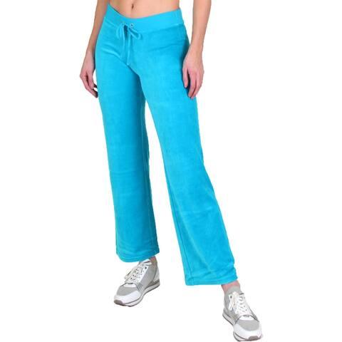 Juicy Couture Womens Mar Vista Track Pants Velour Athleisure