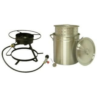 """King Kooker 5012 Bolt-Together Boiling/Steamer Outdoor Cooker Package, 12"""""""