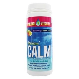 Natural Vitality Natural Calm Magnesium Supplement Raspberry/Lemon 8-ounce