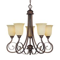 Millennium Lighting 1055 Chateau 5-Light Single Tier Chandelier - Rubbed bronze - n/a
