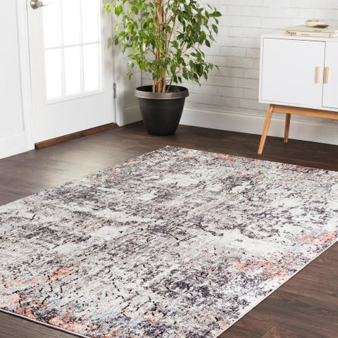 Alexander Home Athens Abstract Modern Distressed Area Rug
