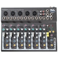Seismic Audio - Slider 7 - 7 Channel Mixer Console with USB Interface NEW