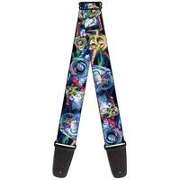 Buzz Lightyear Action Poses Stacked Guitar Strap