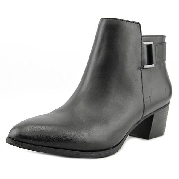 Alfani Womens Adisonn Leather Closed Toe Ankle Fashion Boots