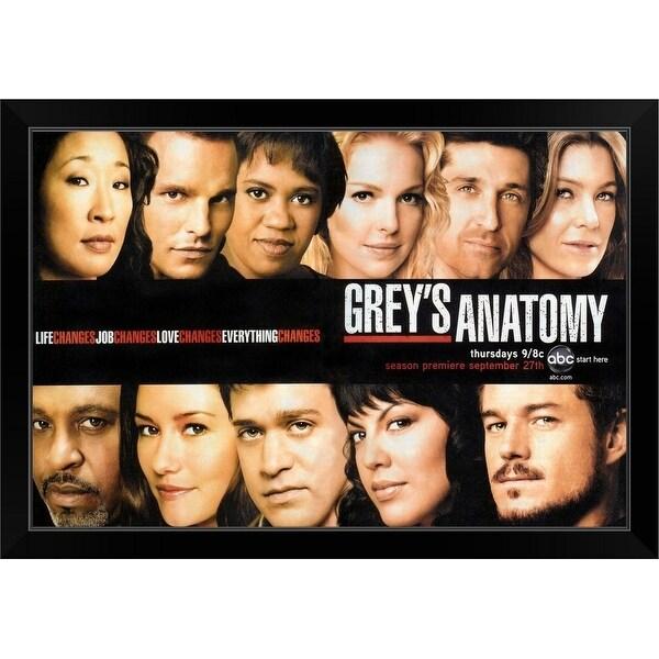 """Grey's Anatomy (2005)"" Black Framed Print"
