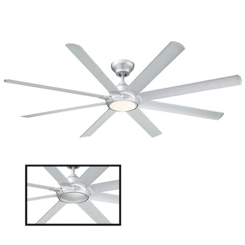 Hydra 80 Inch Eight Blade Indoor / Outdoor Smart Ceiling Fan with Six Speed DC Motor and LED Light.
