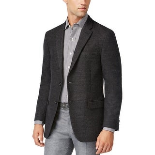 Tommy Hilfiger Bray Charcoal Neat Soft Tailored Sportcoat Blazer 40 Short 40S
