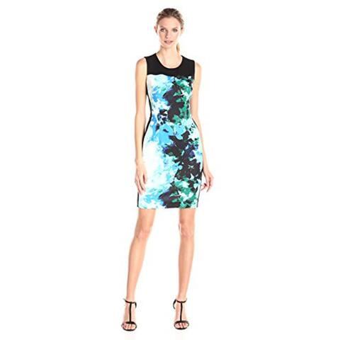 T Tahari Womens Dakota Sleeveless Dress, Voyage, 12