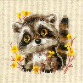 """Little Raccoon (14 Count) - Riolis Counted Cross Stitch Kit 5""""X5"""""""