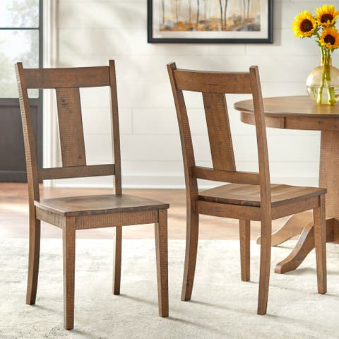 Lifestorey Athens Solid Wood Dining Chair (Set of 2)