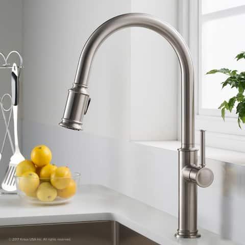 Kraus KPF-1680 Sellette 1-Handle 2-Function Sprayhead Pull Down Kitchen Faucet