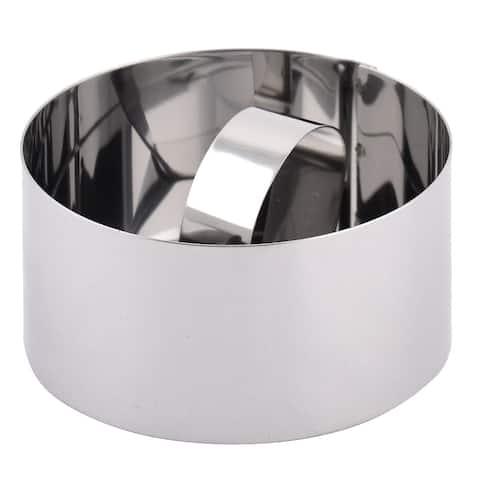 Home Bakery Stainless Steel Round Shaped Cake Biscuit Cookie Cutters Mould