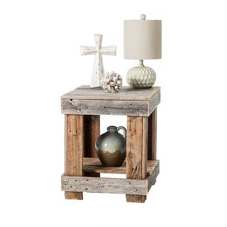 Handmade Del Hutson Designs Barnwood End Table