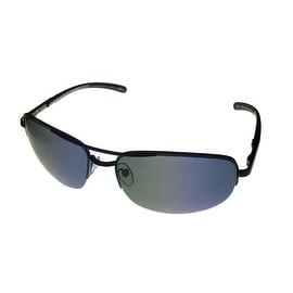 Timberland Sunglass Black Rimless Metal Aviator, Solid Smoke Lens TB7113 2A