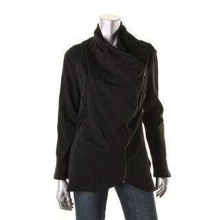 Salty Womens Slub Asymmetrical Full Zip Sweater - L