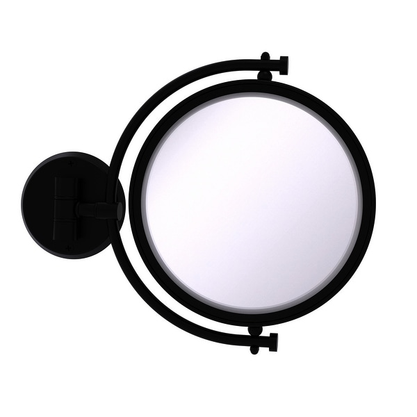 Allied Brass 8-in Wall Mounted Make-Up Mirror 4X Magnification