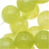 Olive Green Serpentine Gem Round Beads 8mm - 15 Inch Strand