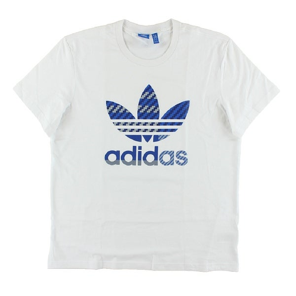 8478dd1ceaa7 Shop Adidas Mens Originals Essentials Trefoil T Shirt White - White Blue Grey  - XxL - Free Shipping On Orders Over  45 - Overstock - 22613785