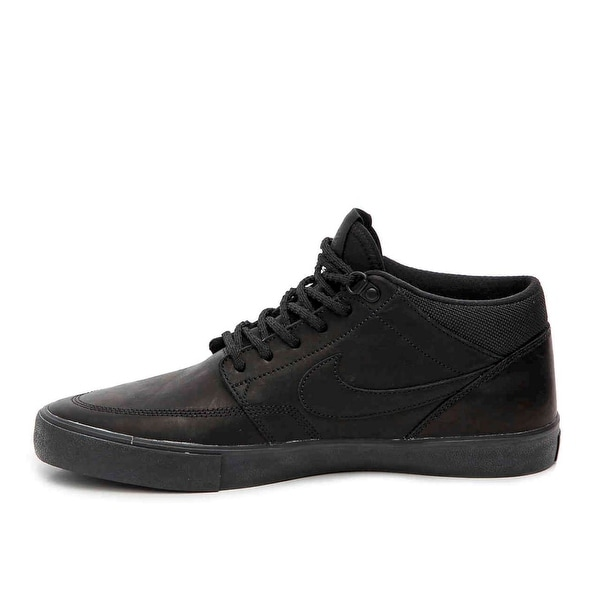 Nike Mens sb portmore ll Low Top Lace Up Running Sneaker, Black black, Size 10.5