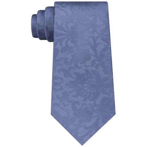 Michael Kors Mens Floral Self-Tied Necktie - One Size