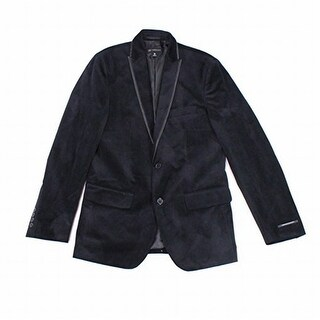 INC NEW Black Velvet Mens Large L Two Button Classic-Fit Jacket Blazer
