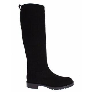 Dolce & Gabbana Brown Suede Goatskin Flat Boots - 38