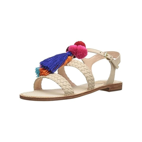 3a548ecf8091 Shop Kate Spade Womens Sunset Flat Sandals Strappy Pom Pom - Free ...