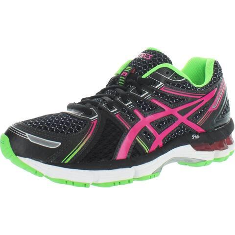 Asics Girls GEL- Kayano 19 GS Running Shoes Gym Exercise - Black/Electric Pink/Apple - 5 Medium (B,M) Big Kid