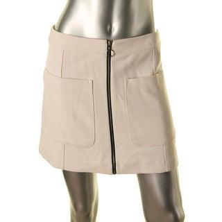 Rachel Rachel Roy Womens Zip Front Mini A-Line Skirt - 4