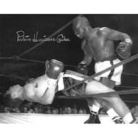 Rubin Hurricane Carter signed Vintage BW 16x20 Photo deceased Beckett Hologram