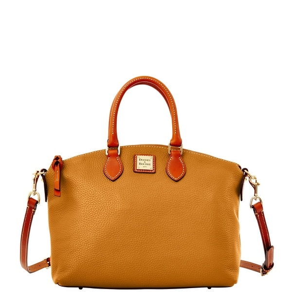 Dooney & Bourke Pebble Grain Satchel (Introduced by Dooney & Bourke at $248 in Oct 2014) - Caramel