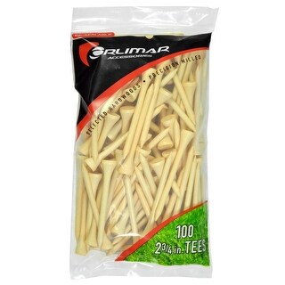 Orlimar 2 3/4-Inch Golf Tees 100-Pack (Natural)