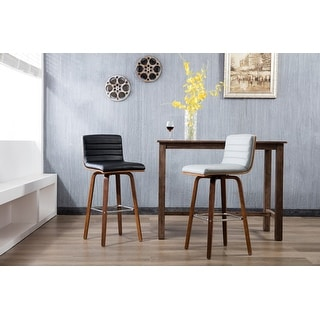 Link to Porthos Home Bar/Counter Stools, PU Leather Upholstery & Wooden Legs Similar Items in Dining Room & Bar Furniture
