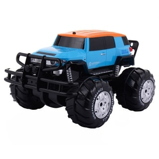 Costway 2.4G 8CH Remote Control Amphibious Truck Off-road Vehicle RC Car Land & Water
