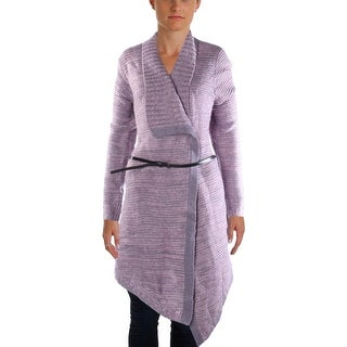 All At Once Womens Knit Open Front Sweatercoat