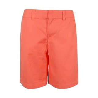 Tommy Hilfiger Women's Solid Bermuda Shorts - Shell Pink