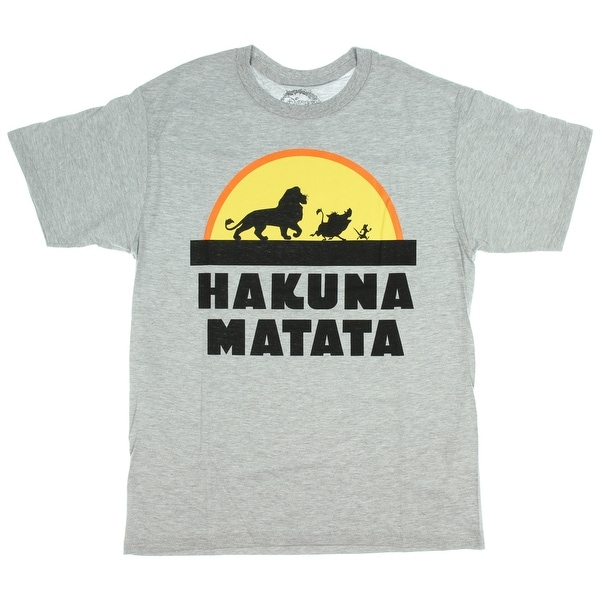 df72a0544eed Shop Disney T Shirt Lion King Tee Men's Hakuna Matata Rising Sun Movie -  Free Shipping On Orders Over $45 - Overstock - 22799921