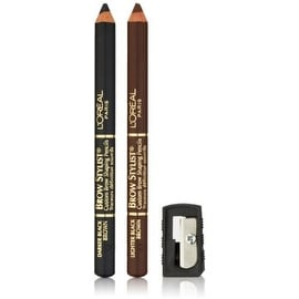 L'Oreal Paris Brow Stylist Brow Shaping Duet Pencils, Black Brown [330] 1 ea