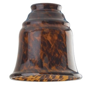 Westinghouse 8135600 Tortoise Bell Glass Shade, 5""