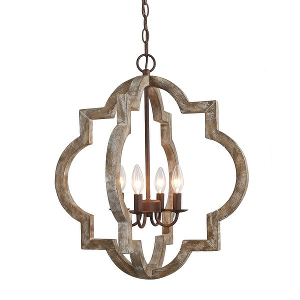 The Gray Barn Hester Gulch Farmhouse 4-light Chandelier. Opens flyout.