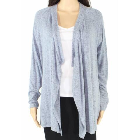 Moa Moa Women's Sweater Blue Size Medium M Cardigan Open Front Draped