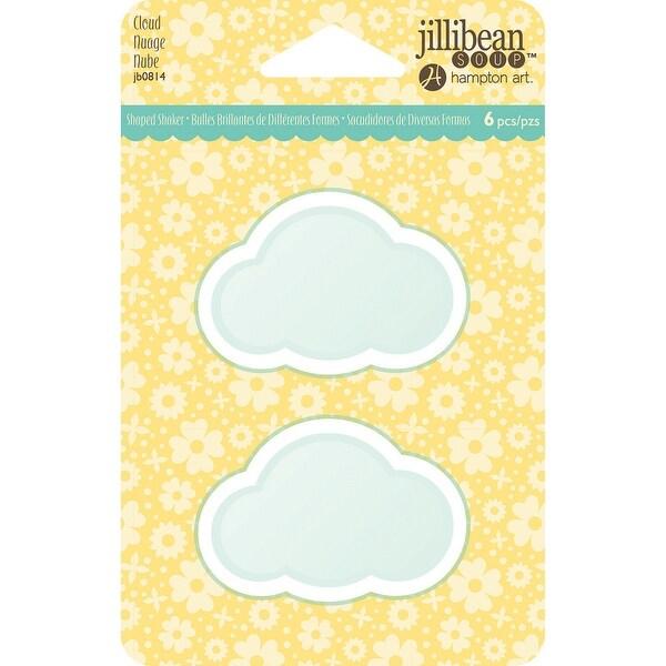 Jillibean Soup PVC Card Shakers 6/Pkg-Cloud