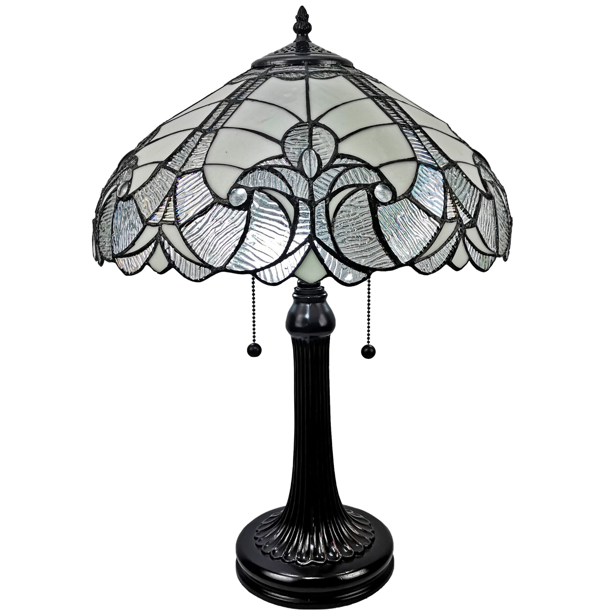 Picture of: Tiffany Style White Table Lamp Amora Lighting Overstock 11936551 White