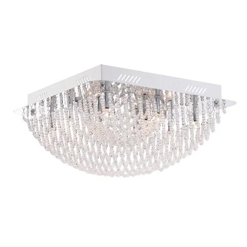 "Platinum PCAD1616 Adorn 10 Light 16"" Wide Flush Mount Ceiling Fixture"