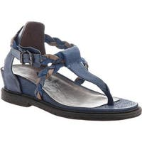 OTBT Women's Earthly Thong Sandal Blue Leather