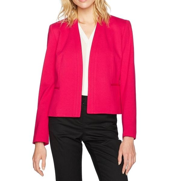 Nine West Fiesta Pink Womens Size 10 Kiss-Front Ponte Knit Jacket