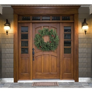 """Link to 24in Berries and Pinecones Green Artificial Pine Wreath - 24"""" Diameter Similar Items in Christmas Decorations"""